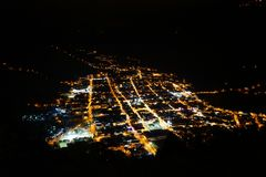 Городок на ноче стоковое изображение