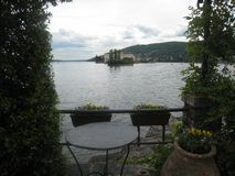 Городок на озере стоковое фото