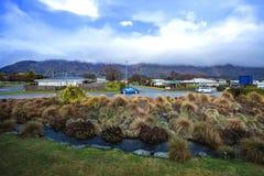 Городок Новая Зеландия Wanaka - september5,2015: красивое сценарное городка southland Новой Зеландии wanaka стоковые фото