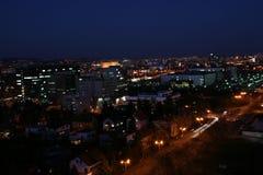 городок ночи Стоковая Фотография