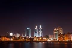 городок ночи montevideo жизни Стоковое Изображение RF