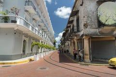 Городок Панама (город) центрального ¡ Panamà гостиницы старый стоковая фотография rf