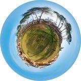 городок панорамы коттеджа Стоковое Фото