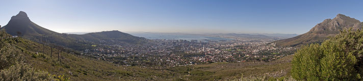 городок панорамы плащи-накидк Стоковое фото RF