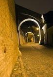 городок переулка старый стоковые фотографии rf