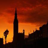 городок Польши залы gdansk стоковая фотография