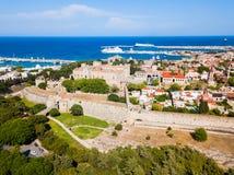 Городок Родоса старый в Греции стоковое изображение