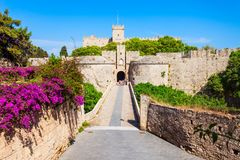 Городок Родоса старый в Греции стоковое фото