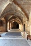 Городок Родос старый, дворец грандиозного оригинала стоковые фотографии rf