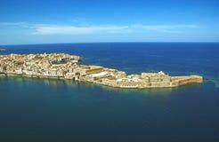 Городок Сиракуза Сицилия береговой линии стоковая фотография rf