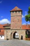 городок строба средневековый Стоковое Изображение