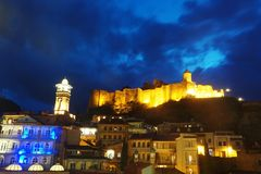 Городок Тбилиси Georgia старые и крепость Narikala стоковое изображение