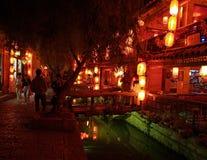 городок туриста верхней части lijiang 7 фарфоров Стоковые Изображения RF