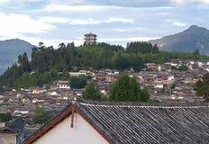 городок туриста верхней части lijiang 8 фарфоров Стоковые Изображения
