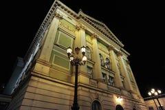 городок улицы prague ночи старый Стоковая Фотография