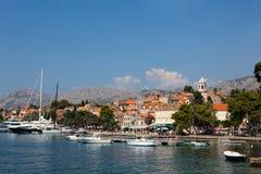 городок Хорватии cavtat старый Стоковое Изображение
