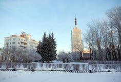 городок центра arkhangelsk Стоковые Фотографии RF