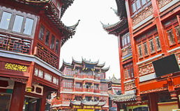 Городок Шанхай старый, сады Yuyuan Стоковое Изображение RF