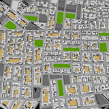 Городок шаржа Стоковые Фотографии RF