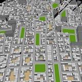 Городок шаржа Стоковое Изображение RF