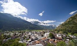 городок швейцарца gampel Стоковое фото RF