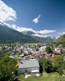 городок швейцарца gampel Стоковая Фотография RF