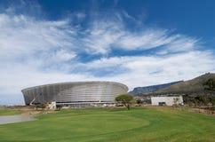 городок 2010 стадиона футбола плащи-накидк Стоковое Изображение
