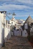 городок alberobello Стоковое Фото