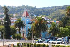 Городок Alcobaca старый в Португалии стоковая фотография rf