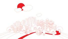городок artoon Бесплатная Иллюстрация