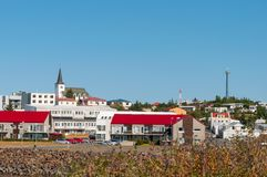 Городок Borgarnes в Исландии Стоковое Изображение RF
