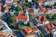 Городок Cesky Brod - исторический город стоковое изображение rf