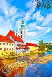 Городок Cesky Krumlov стоковые фото