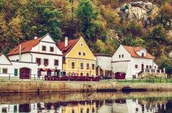 Городок Cesky Krumlov стоковое фото rf