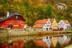Городок Cesky Krumlov стоковая фотография rf