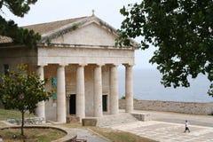 городок corfu Греции Стоковая Фотография RF