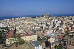 городок corfu Стоковая Фотография