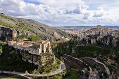 городок cuenca старый Испании стоковые изображения