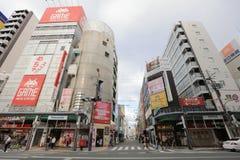 Городок Denden зона вдоль улицы Nipponbashi, Осака Стоковые Фото