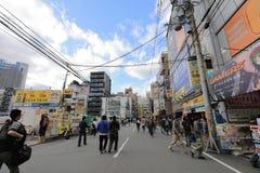 Городок Denden зона вдоль улицы Nipponbashi, Осака Стоковое фото RF
