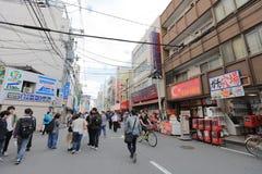 Городок Denden зона вдоль улицы Nipponbashi, Осака Стоковые Фотографии RF