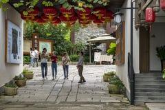 Городок Hakka Gankeng разделен в 2 темы: Городок Hakka и экологические характеристики паркуют стоковое фото rf