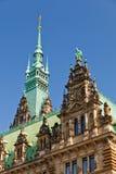 городок hamburg залы стоковое изображение