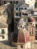 городок kerkyra corfu молельни Стоковое фото RF