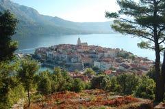 городок korcula Хорватии стоковое изображение