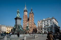 городок krakow старый квадратный Стоковая Фотография