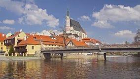 Городок Krumlov в чехии сток-видео