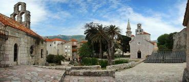 городок montenegro budva старый Стоковые Фотографии RF