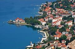 городок montenegro kotorska kotor boka залива старый Стоковое фото RF
