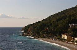 городок moscenicka draga среднеземноморской Стоковое Изображение RF